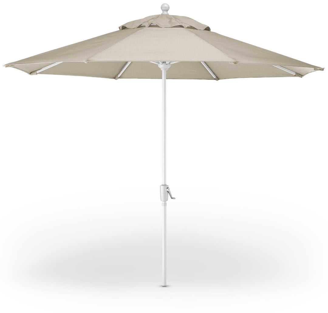 A Durable 9 Patio Market Umbrella In Neutral Color Way Adds Quick Style And